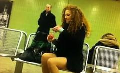 Sexy European Legs Exposed In Public