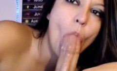 Sexxy Girl Deepthroats and Swallow on Webcam