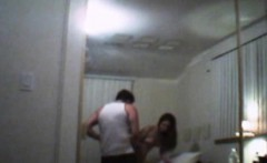 Cheating Brunette Amateur Getting Face Fucked In Motel