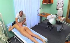 doctor massages his nurse in fake hospital