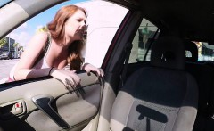Sexy redhead Kassondra Raine gets picked up by dude