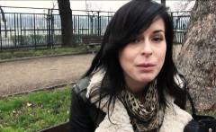 Sexy amateur Czech girl screwed hard by stranger for money