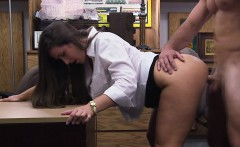 Busty Blonde sells her horn to the shop