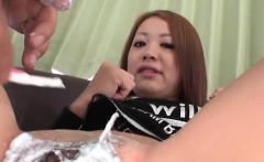 Hot asian chick gets anal sex
