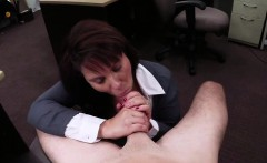 Busty and sexy Milf sells card collection gets fucked