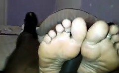 Latina Gives Her Man A Foot Job POV