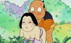 horny anime husband nailing hard his wifes pussy
