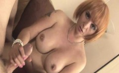 ginger tugging stepmom with big fake tits