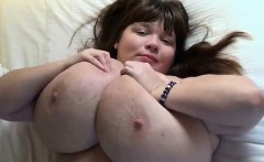 Fat Woman Showing Off Her Large Breasts