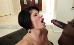 Shay Foxx wraps her lips around his dick