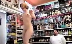 Ugly Redhead Naked In Public At A Shop