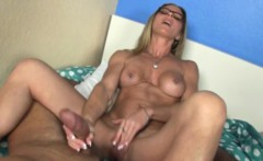 Mature homemade handjob with a real housewife
