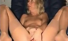 Sexy Grandma Fingers Her Beautiful Pussy