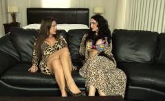 Nasty slut Miss Jasmine ties Amy up and fucks her with a