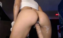 Teen girl with very creamy pussy
