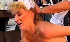 German retro slut gets shaved fuck holes licked