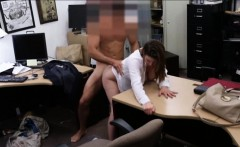 Business lady pussy fucked by pawn man in pawnshops office