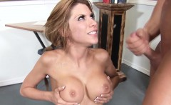 Busty wam latina gets cum