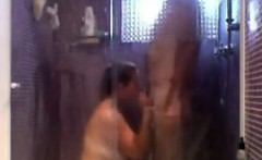 couple have fun in the shower and on the bed