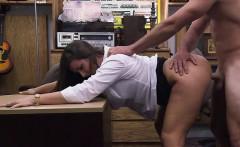 Amateur lady makes pawnshop owner horny