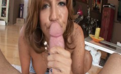 Close up view of mature milf blowjob