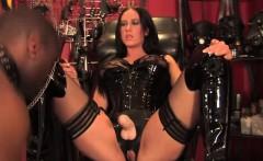 Sadistic interracial domination mistress fun
