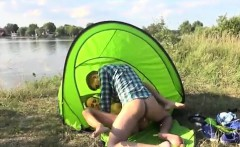 Cumshot male photos Eveline getting boned on camping site