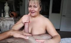 Busty Mature BBW blowjob and boobjob