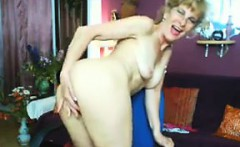 Slim And Horny Granny Masturbates