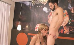 Huge boobs blonde tranny fucked horny guy in ass