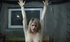 Submissive prisoner strips for maledom