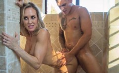 Big titted blonde mature Brandi Love fucked in the shower