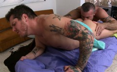 Sexy gay guy is being spooned during hot massage