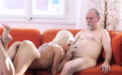 crazy old lad fucks mouth and juicy pussy of a young girl