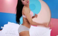 Asian ladyboy massages her big shedick