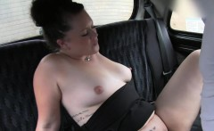 Natural busty bbw fucks in fake taxi