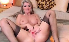blonde milf masturbating hard