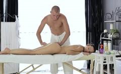 Kristina is a big fan of mutual erotic massage and Edward