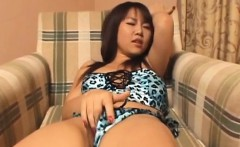 rei himekawa plays with pussy under thong