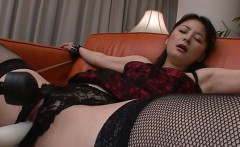 2 hungry dudes fuck asian babe in white stockings
