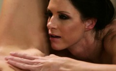 Massage satisfies lesbian sexual hunger lesbimassage.com