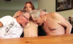 Cuckold licks creampie Minnie Manga eats breakfast with John