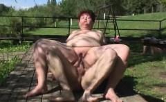 BBW granny anal face cum