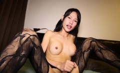 Spicy lingerie ladyboy drops big cum load