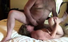 He unloads his hot cum on his wife
