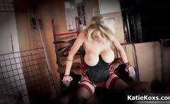 Dirty big boobs blond babe gets to fuck