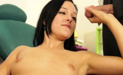 raven haired babe jana enjoys a messy cumshot on her chest