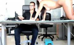 Elegant young brunette sucks a long stick and then gets dri