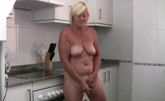 Granny loves masturbating outside the bedroom