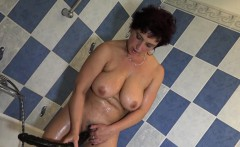 Hot Granny Plays With Her Big Tits